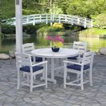 POLYWOOD® La Casa Outdoor Dining Set 5 Piece with Arm Chairs PW-PWS132-1