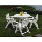 POLYWOOD® Nautical Outdoor Dining Set 5 piece PW-NCL32SET5