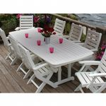 POLYWOOD® Nautical Outdoor Highback Dining Set 9 piece PW-NCH38SET9