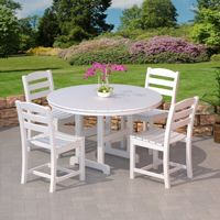 POLYWOOD® La Casa Outdoor Dining Set 5 Piece with Side Chairs PW-TD100SET5