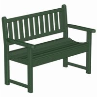 POLYWOOD® Plastic Traditional Garden Bench with arms 48 inches PW-TGB48