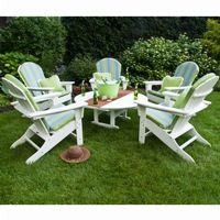 POLYWOOD® South Beach Adirondack Chat Set 6 Piece PW-SBA15SET5
