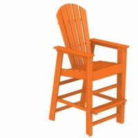 POLYWOOD® South Beach Bar Chair Fiesta PW-SBD30