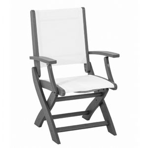 POLYWOOD® Coastal Sling Outdoor Folding Dining Chair PW-9000