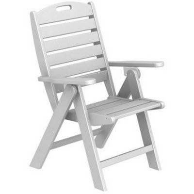 POLYWOOD® Nautical Highback Folding Chair