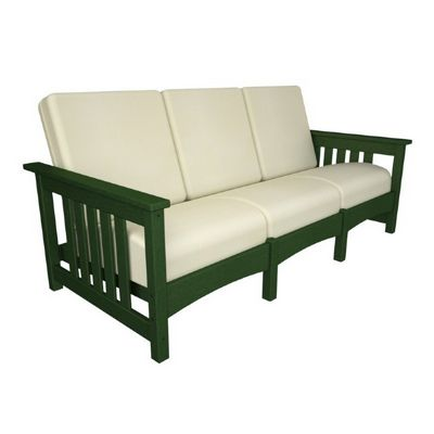 POLYWOOD® Outdoor Club Mission Sofa Three Seater