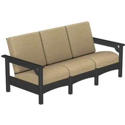 POLYWOOD® Outdoor Club Three Seater Sofa PW-CLC71