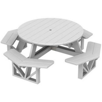 POLYWOOD Park Picnic Table And Bench Set Octagon PWPH CozyDays - Park bench and table