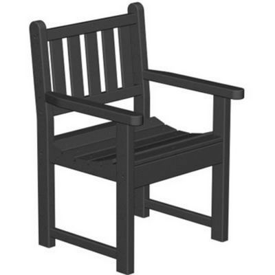 POLYWOOD® Plastic Traditional Garden Arm Chair PW-TGB24
