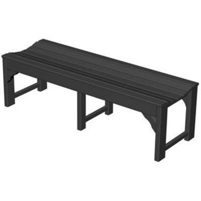 POLYWOOD® Plastic Traditional Garden Bench 60 inches PW-BAB160