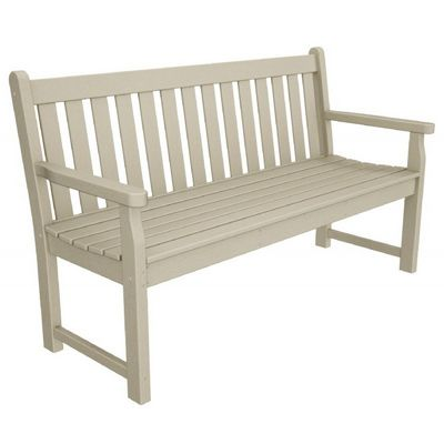 POLYWOOD® Plastic Traditional Garden Bench with arms 60 inches PW-TGB60