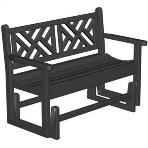 Outstanding Polywood Chippendale Outdoor Bench Glider Inzonedesignstudio Interior Chair Design Inzonedesignstudiocom