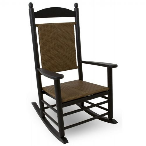 Terrific Polywood Jefferson Woven Outdoor Rocker Ocoug Best Dining Table And Chair Ideas Images Ocougorg