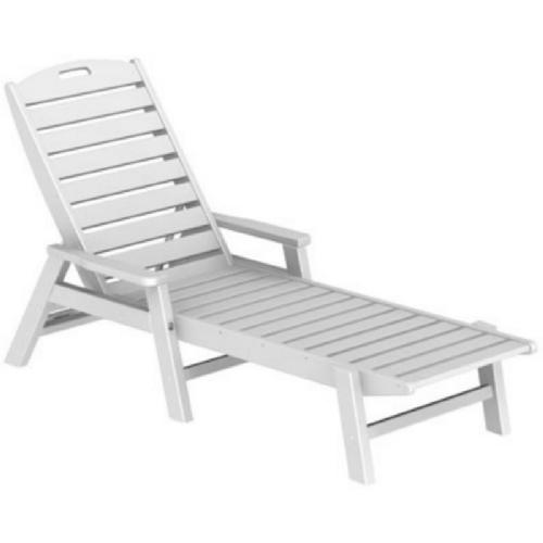 POLYWOOD® Nautical Chaise Lounge Stackable w/arms PW-NAC2280