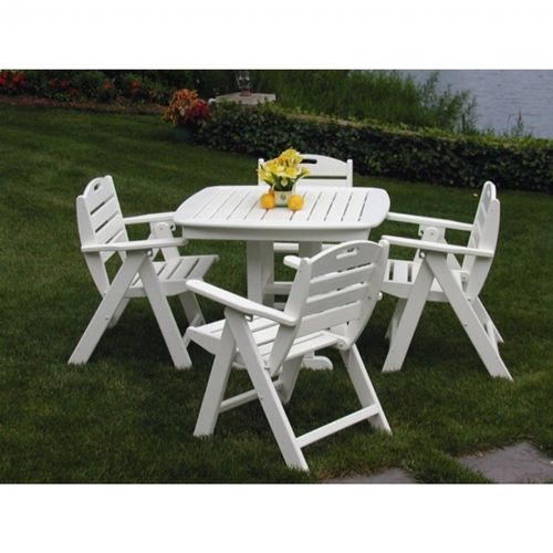 Pleasant Polywood Nautical Outdoor Dining Set 5 Piece Onthecornerstone Fun Painted Chair Ideas Images Onthecornerstoneorg