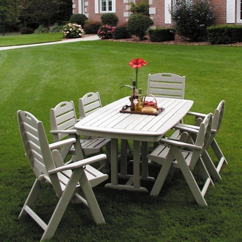 POLYWOOD® Nautical Outdoor Dining Set 7 piece PW-NCL32SET7