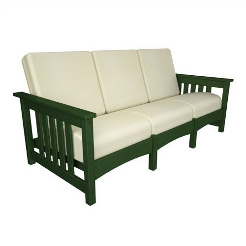 POLYWOOD® Outdoor Club Mission Sofa Three Seater PW-CMC71