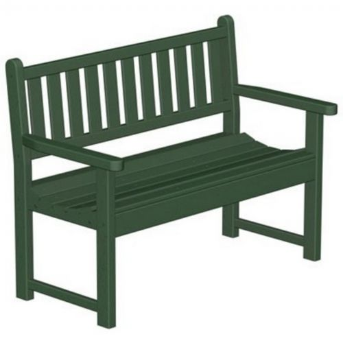 Polywood 174 Plastic Traditional Garden Bench With Arms 48
