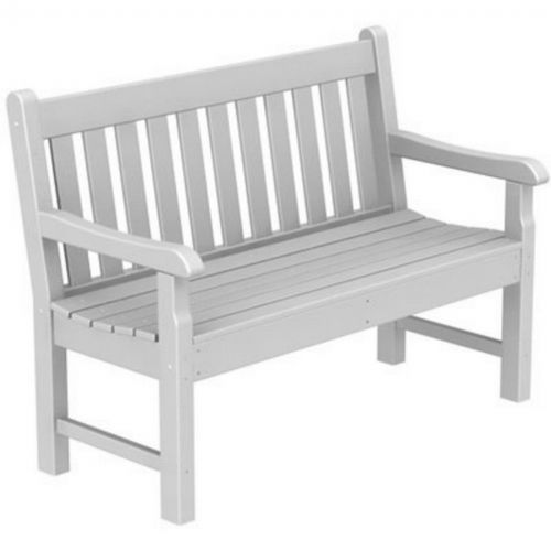 Groovy Polywood Rockford Outdoor Park Bench 48 Inches Spiritservingveterans Wood Chair Design Ideas Spiritservingveteransorg