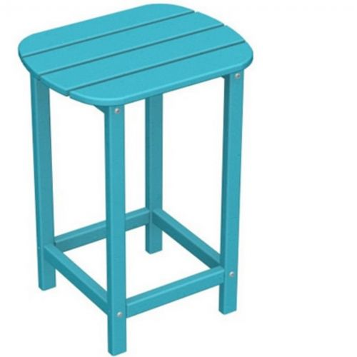 Polywood South Beach High Side Table 15 X19 Fiesta Pw Sbt26