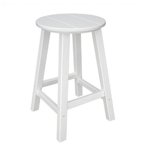 Polywood 174 Traditional Round Outdoor Counter Stool Pw
