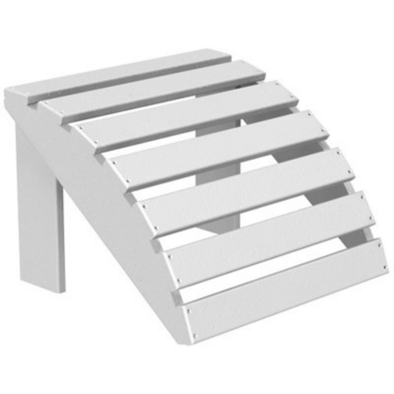 Plastic Wood Adirondack Chair Ottoman : White Patio Furniture