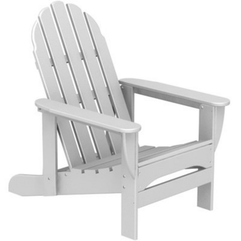 Plastic Wood Adirondack Chair Recliner : White Patio Furniture