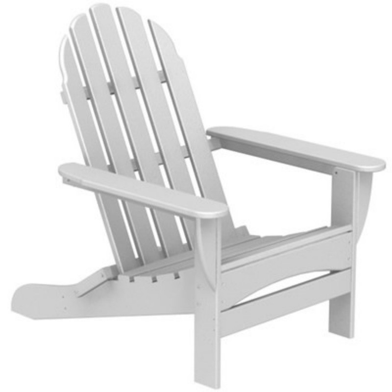 Plastic Wood Adirondack Curved Back Chair : Patio Chairs