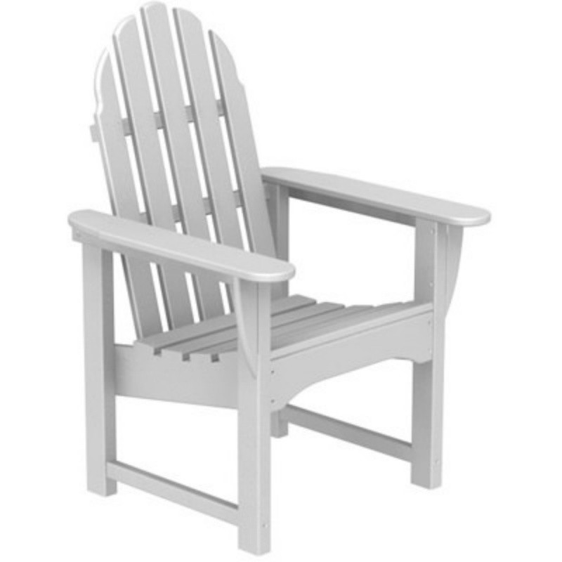 Plastic Wood Adirondack Dining Chair : White Patio Furniture