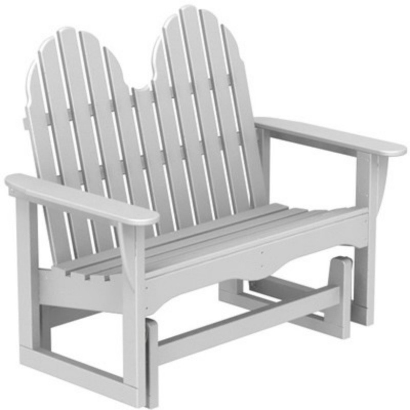 Plastic Wood Adirondack Glider Bench : White Patio Furniture