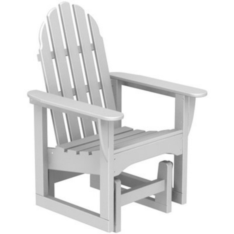 Plastic Wood Adirondack Glider Chair : White Patio Furniture