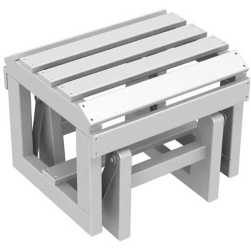 Polywood adirondack plastic glider ottoman pw otgl - Plastic adirondack footrest ...