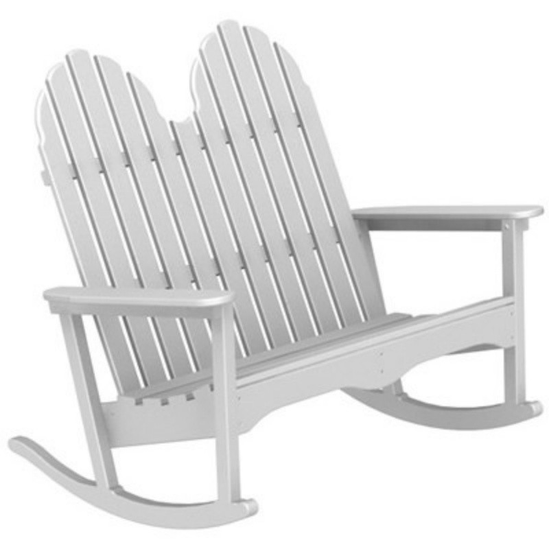 Heavy Duty Folding Outdoor Rocking Chair: Polywood Adirondack Outdoor Rocking Bench