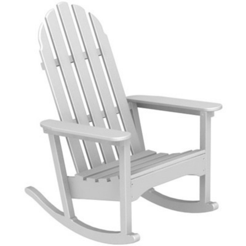 Outdoor Furniture: White Patio Chairs: Plastic Wood Adirondack Rocker
