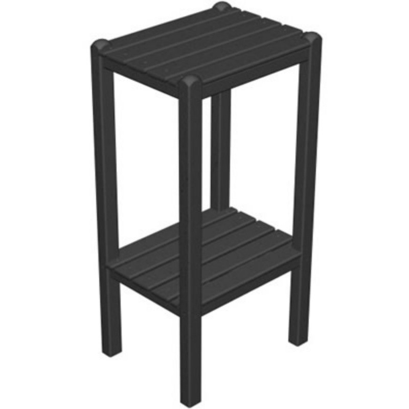 Outdoor Furniture: Plastic Outdoor Tables: Plastic Wood Bar Height Side Table