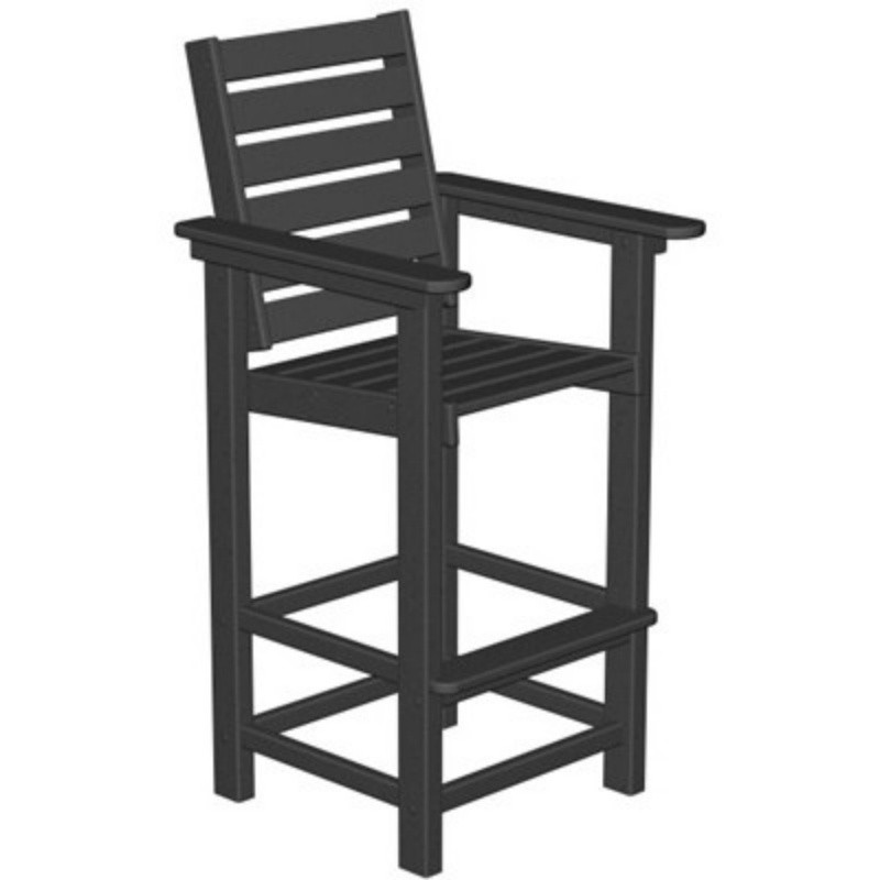 Plastic Captain Outdoor Bar Chair : Patio Chairs