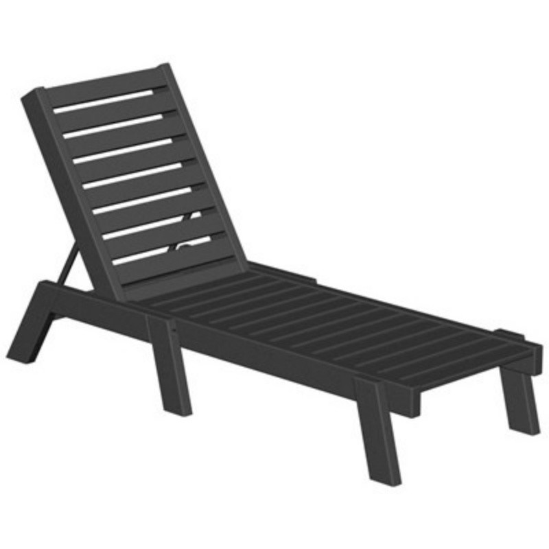 Commercial Polywood Recycled Plastic Captain Chaise Lounge