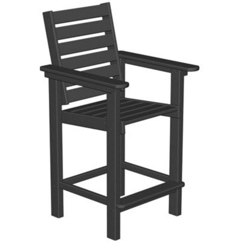 Plastic Captain Outdoor Counter Chair : Patio Chairs