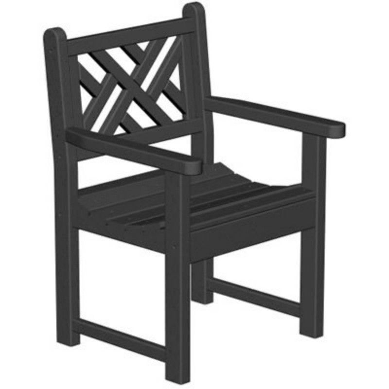 Plastic Chippendale Outdoor Arm Chair