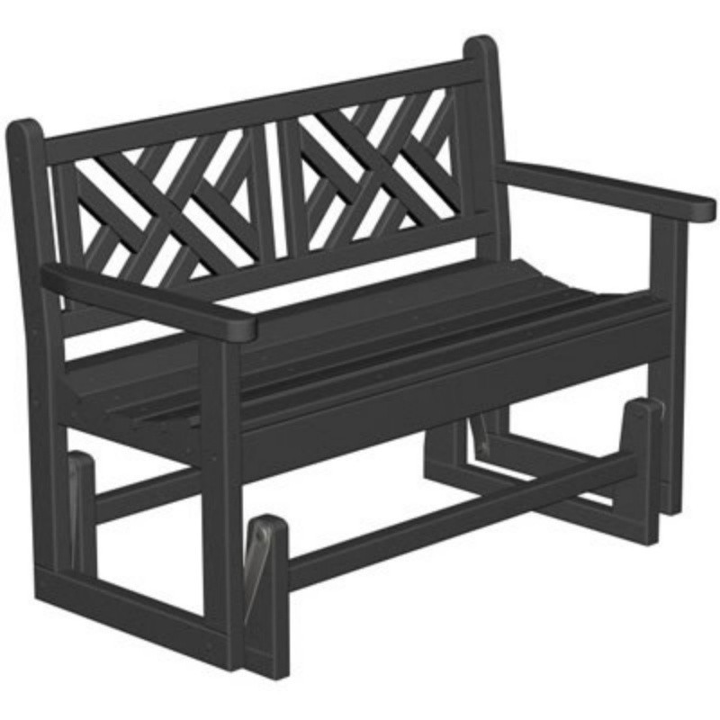 Plastic Chippendale Outdoor Bench Glider