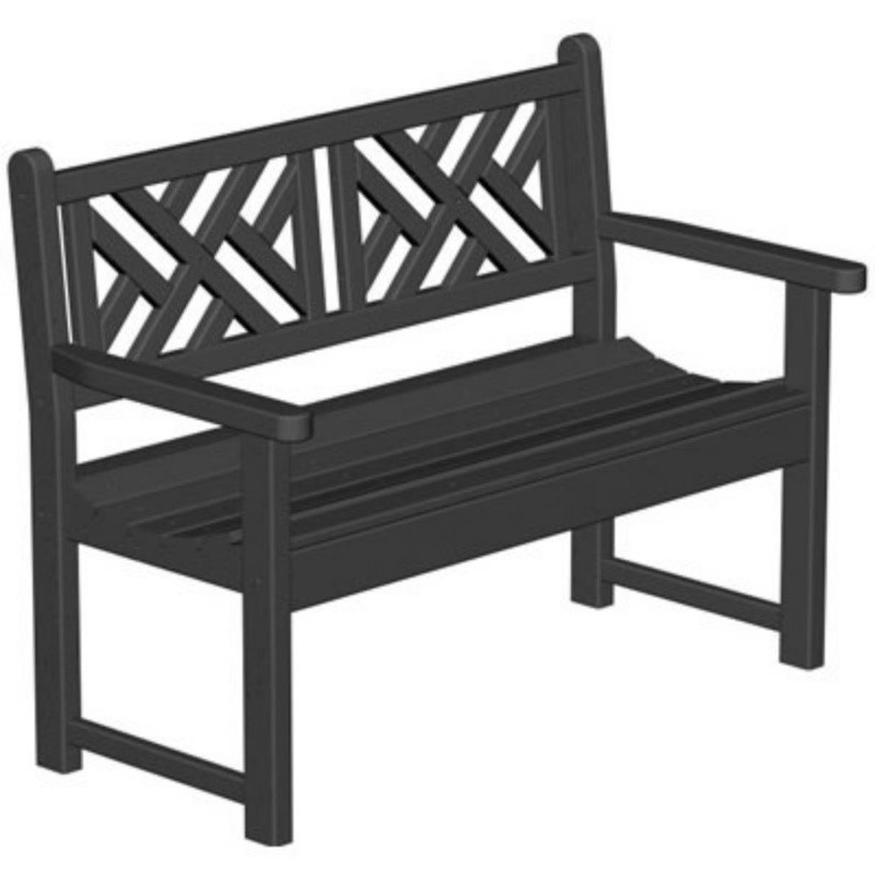 Plastic Chippendale Outdoor Bench : White Patio Furniture