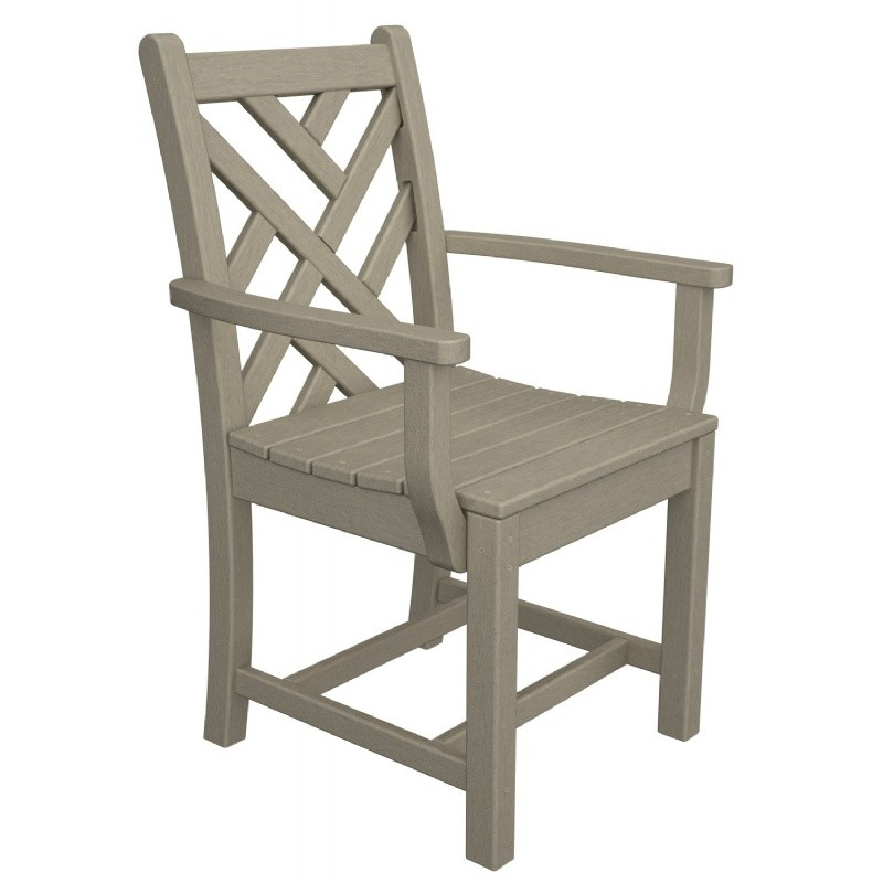 Plastic Chippendale Outdoor Dining Arm Chair
