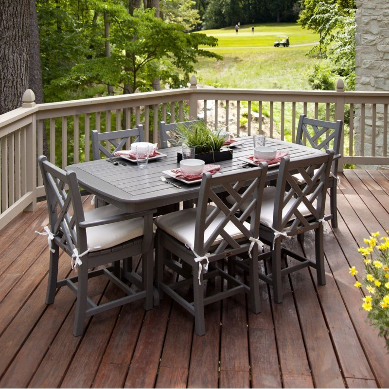 POLYWOOD Chippendale Outdoor Dining Set 7 Piece