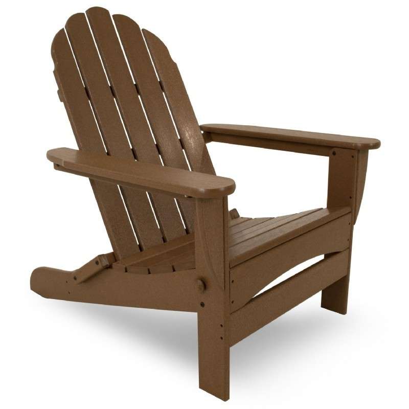 Polywood Classsic Oversized Curveback Adirondack Chair Traditional Colors