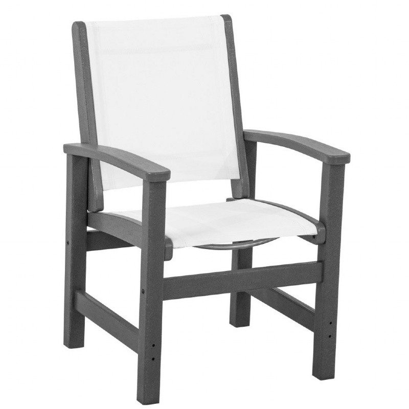 Outdoor Furniture: PolyWood: Coastal Sling Outdoor Dining Chair