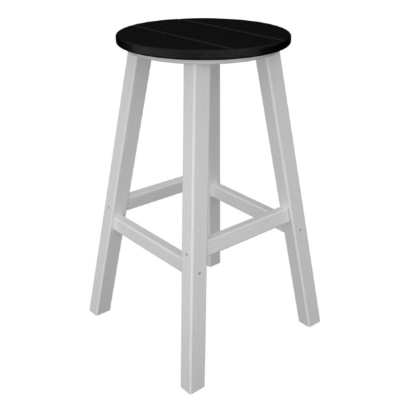 POLYWOOD® Contempo Round Outdoor Bar Stool Traditional