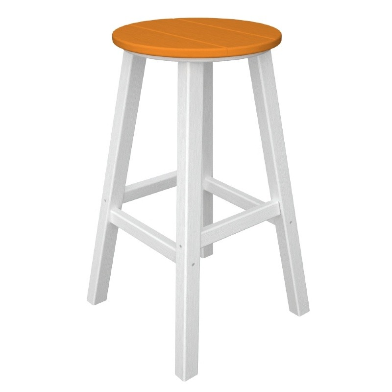 Recycled Plastic Contempo Round Outdoor Bar Stool : 30bar130alphawhiteframetangerine2012012509033990 from www.resinfurniturestore.com size 800 x 800 jpeg 49kB