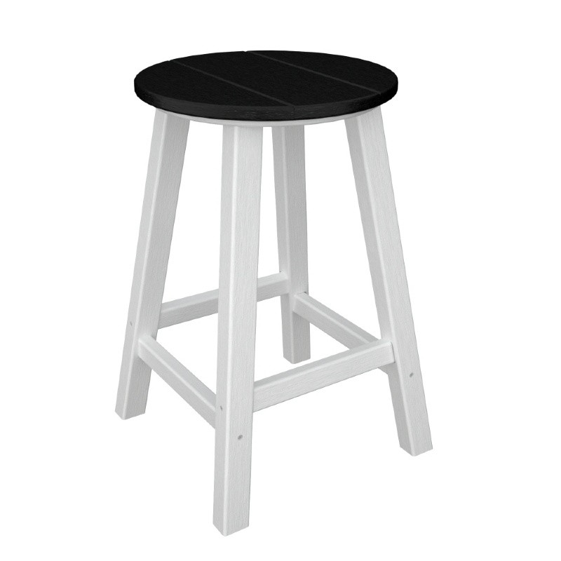POLYWOOD® Contempo Round Outdoor Counter Stool Traditional