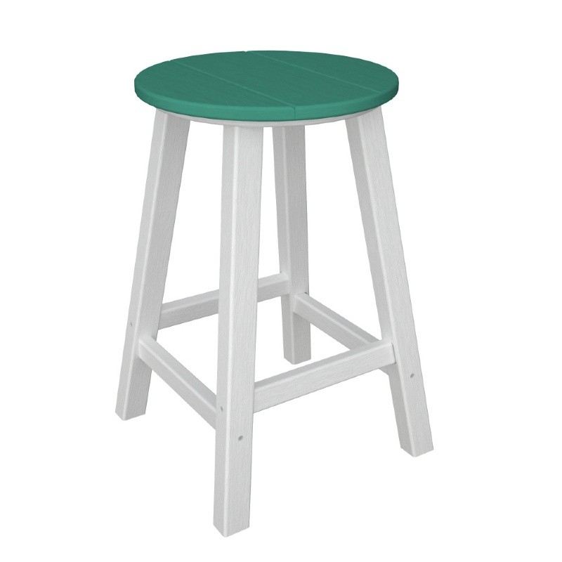 POLYWOOD® Contempo Round Outdoor Counter Stool Vibrant