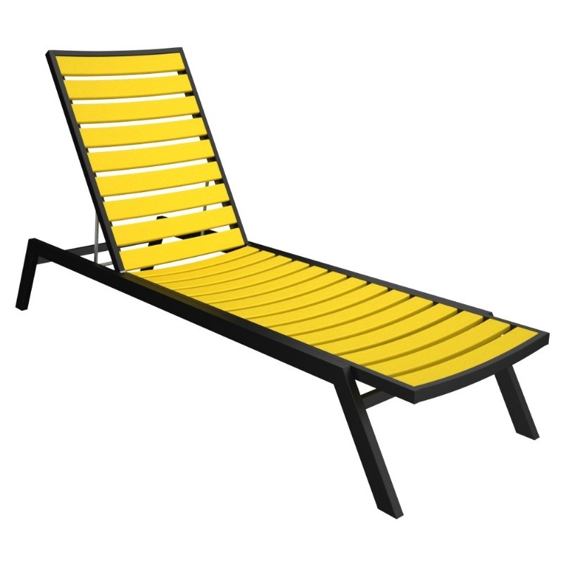 Euro Pool Chaise Lounge with Black Frame alternative photo